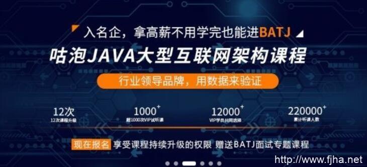 咕泡Java第3期架构师VIP培训班全套培训课程