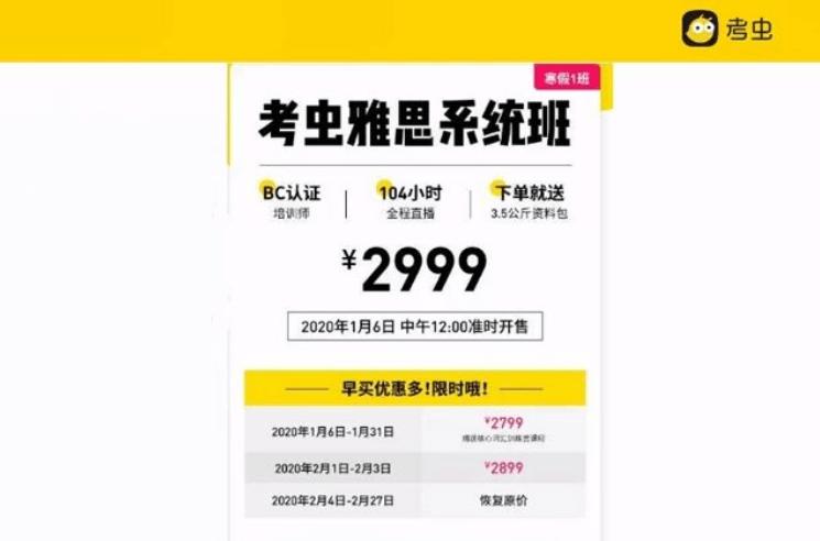 2020考虫雅思系统班(视频+资料)价值2999元_百度云下载
