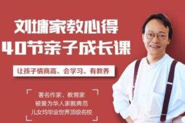 听刘墉讲亲子教育,让孩子懂规矩、有教养、更聪明