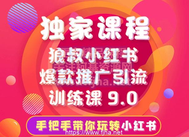 狼叔小红书爆款推广引流训练课9.0